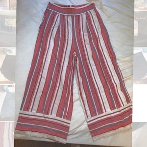 F21 CROPPED STRIPED PANTS